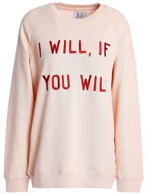 Zoe Karssen Embroidered French Cotton-Terry Sweatshirt