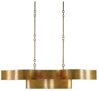 Currey & Company Grand Lotus Oval Chandelier