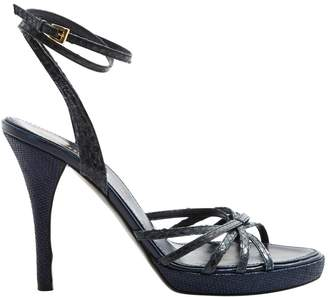 Missoni Navy Leather Sandals