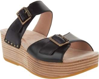 Dansko Leather Wedge Slide Sandals - Selma