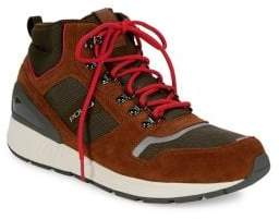 Polo Ralph Lauren Train Leather Lace-Up Sneakers