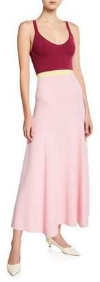 Gabriela Hearst Flaminus Sleeveless Colorblocked Wool-Cashmere Dress