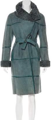 Giuliana Teso Reversible Broadtail & Suede Coat