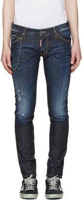 Dsquared2 Blue Distressed Clement Jeans $545 thestylecure.com