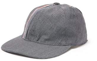Thom Browne Striped Wool Blend Baseball Hat - Mens - Grey