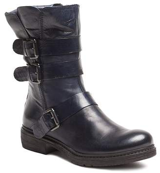 Manas Design Side Buckle Leather Boot