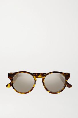Le Specs - Hey Macarena Round-frame Acetate Sunglasses - Tortoiseshell $60 thestylecure.com