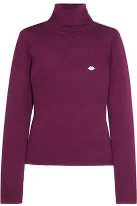 See by Chloe Appliquéd Cotton-Blend Turtleneck Top