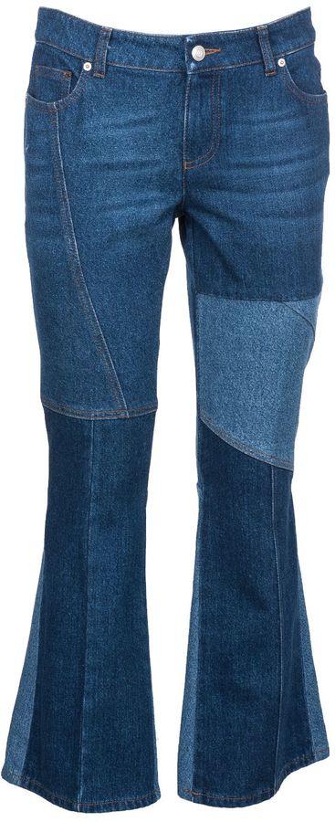 Alexander McQueenAlexander Mcqueen Panel Flare Jeans