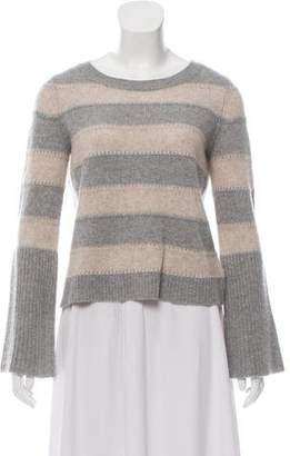 White + Warren Cashmere Striped Lightweight Knit Sweater