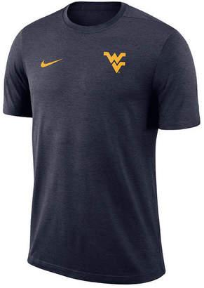 Nike Men West Virginia Mountaineers Dri-Fit Coaches T-Shirt