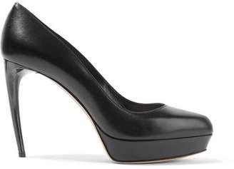 Alexander McQueen Leather Platform Pumps - Black