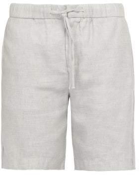 Frescobol Carioca - Drawstring Waist Linen Blend Shorts - Mens - Grey