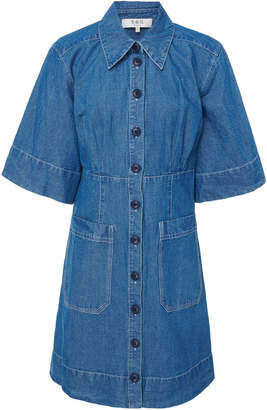 Sea Piper Denim Mini Shirt Dress