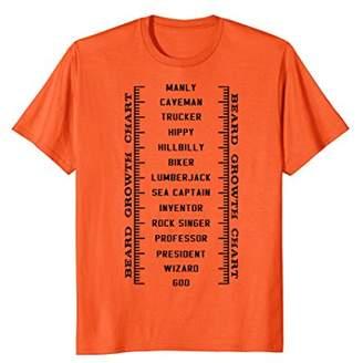 BEARD GROWTH CHART - funny - ruler - measure T-shirt