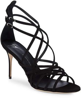 Giuseppe Zanotti Multi-Strap Suede Sandal