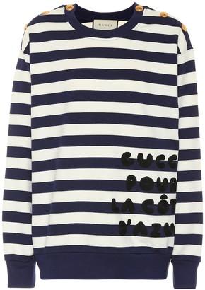 Gucci Striped cotton-jersey sweatshirt