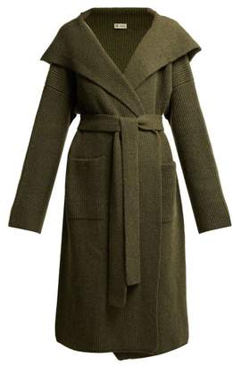 Connolly - Tie Waist Hooded Cashmere Cardigan - Womens - Dark Green