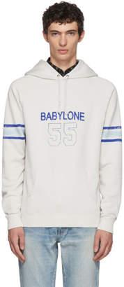 Saint Laurent White Babylone Hoodie