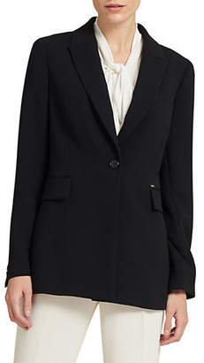 Donna Karan Button Long-Sleeve Jacket