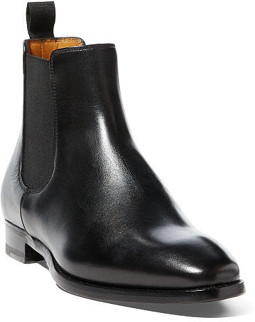 Ralph Lauren Galen Burnished Calfskin Boot