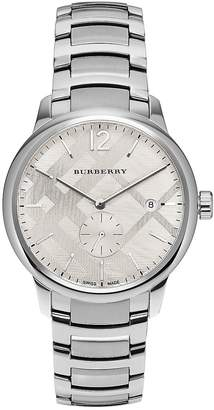 Burberry Men's Round Stainless Steel Watch