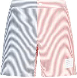 Thom Browne Striped Herringbone Swim Shorts