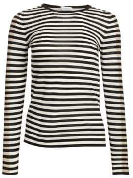 Akris Punto Women's Elements Tricolor Striped Knit - Black Cream - Size 2