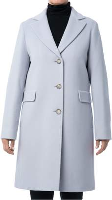 Cinzia Rocca Icons Icons Classic Wool Cashmere Blend Reefer Coat