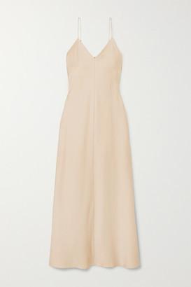 The Row Guinevere Silk-satin Maxi Dress - Beige