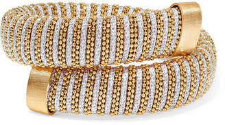 Carolina Bucci Caro Gold-plated And Metallic Cotton Bracelet
