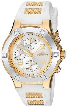 Invicta Women's 'BLU' Quartz -Tone and Silicone Casual Watch