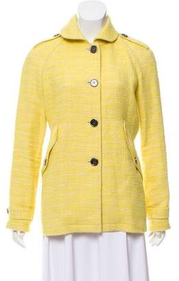 Burberry Bouclé Button Front Jacket