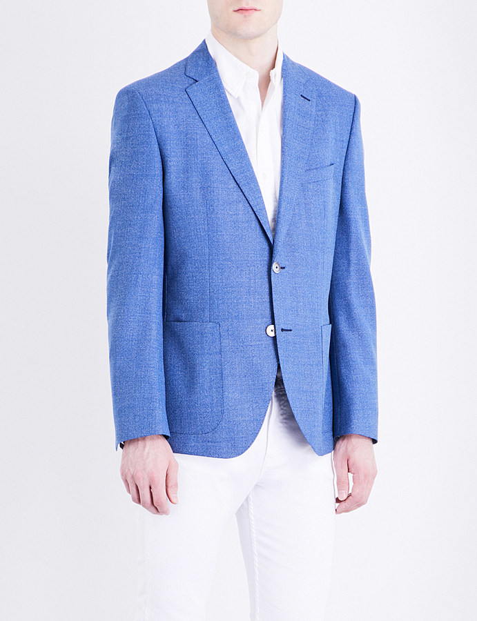 Hugo BossHugo Boss Textured weave slim-fit wool jacket
