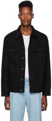 HUGO Black Denim Flap Pocket Jacket