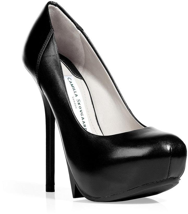 Camilla Skovgaard Black stiletto platform pumps