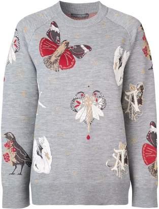 Alexander McQueen gothic fairytale intarsia jumper