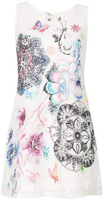 Dorothy Perkins Womens *Izabel London White Floral Print Shift Dress