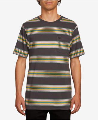 Volcom Men Idle Crew Striped T-Shirt