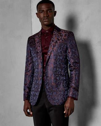 Ted Baker OSBORNE Floral jacquard suit jacket