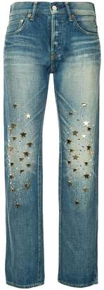 Tu Es Mon Trésor star charm jeans short length