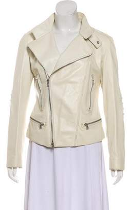 Tod's Leather Zip-Up Jacket