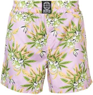 Sss World Corp floral swim shorts