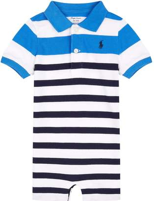 Ralph Lauren Stripe Polo Neck Playsuit