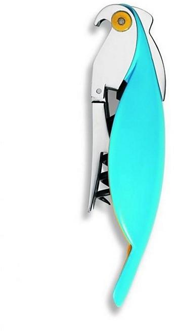 """Alessi Parrot"""" Corkscrew, Blue"""