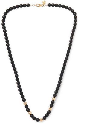 Peyote Bird Onyx And 14-Karat Gold-Plated Necklace