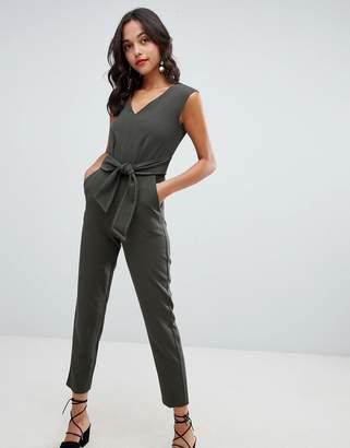 Closet London Tailored Jumpsuit With Tie Waist