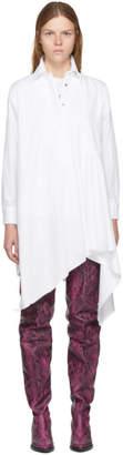Marques Almeida White Asymmetric Shirt Dress