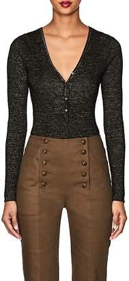Ulla Johnson Women's Bessie Metallic Cashmere-Blend Bodysuit