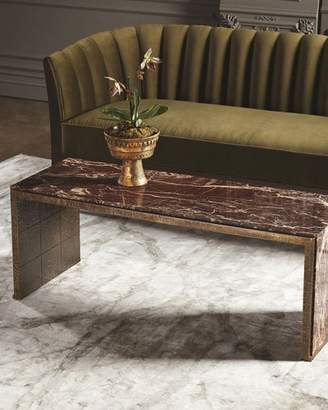 Global Views Waterfall Marble Coffee Table
